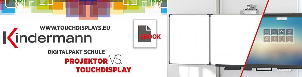 Projektor vs. Touchdisplay-Ebook-Werbebanner